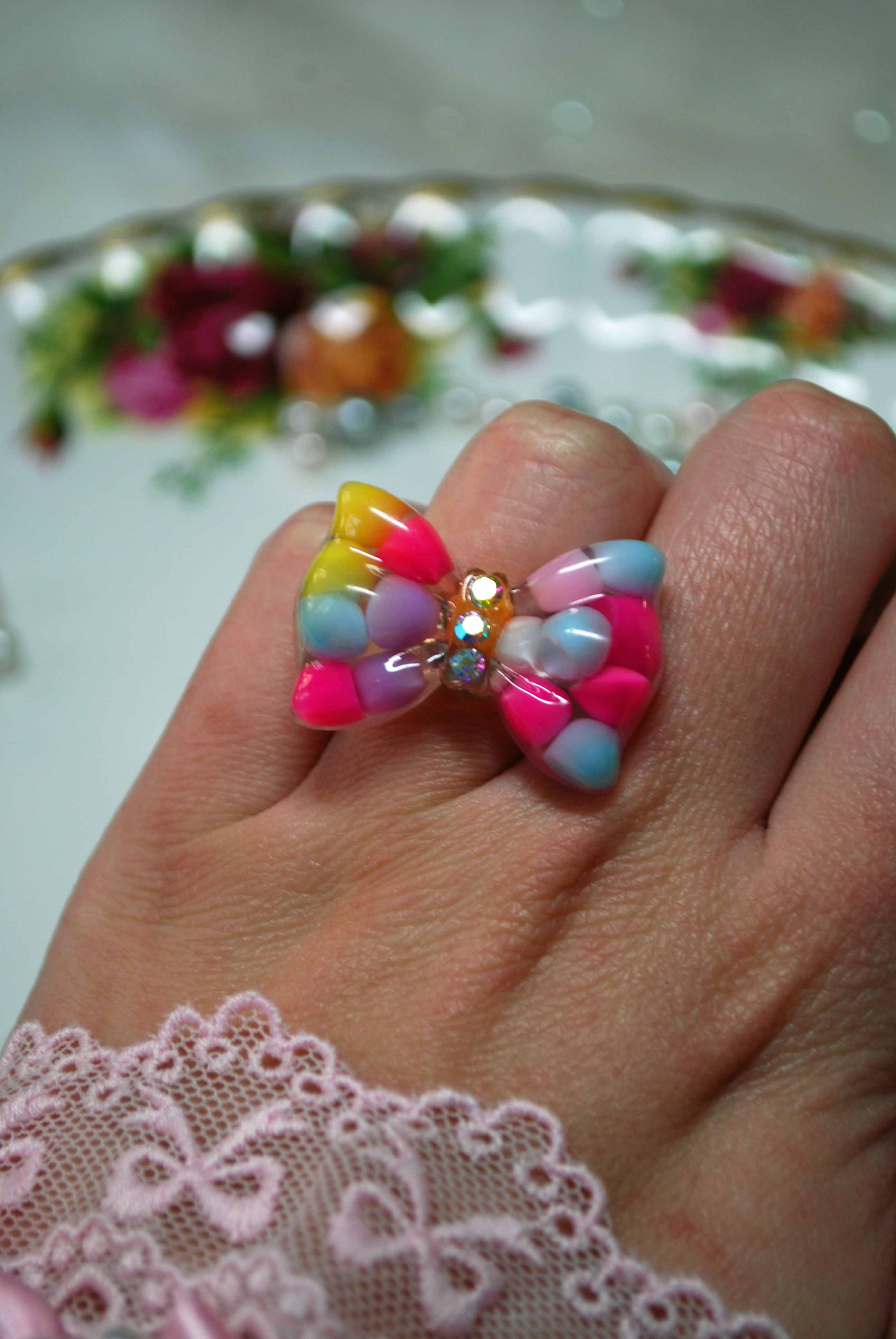 Puff Ball Cabochon Ring