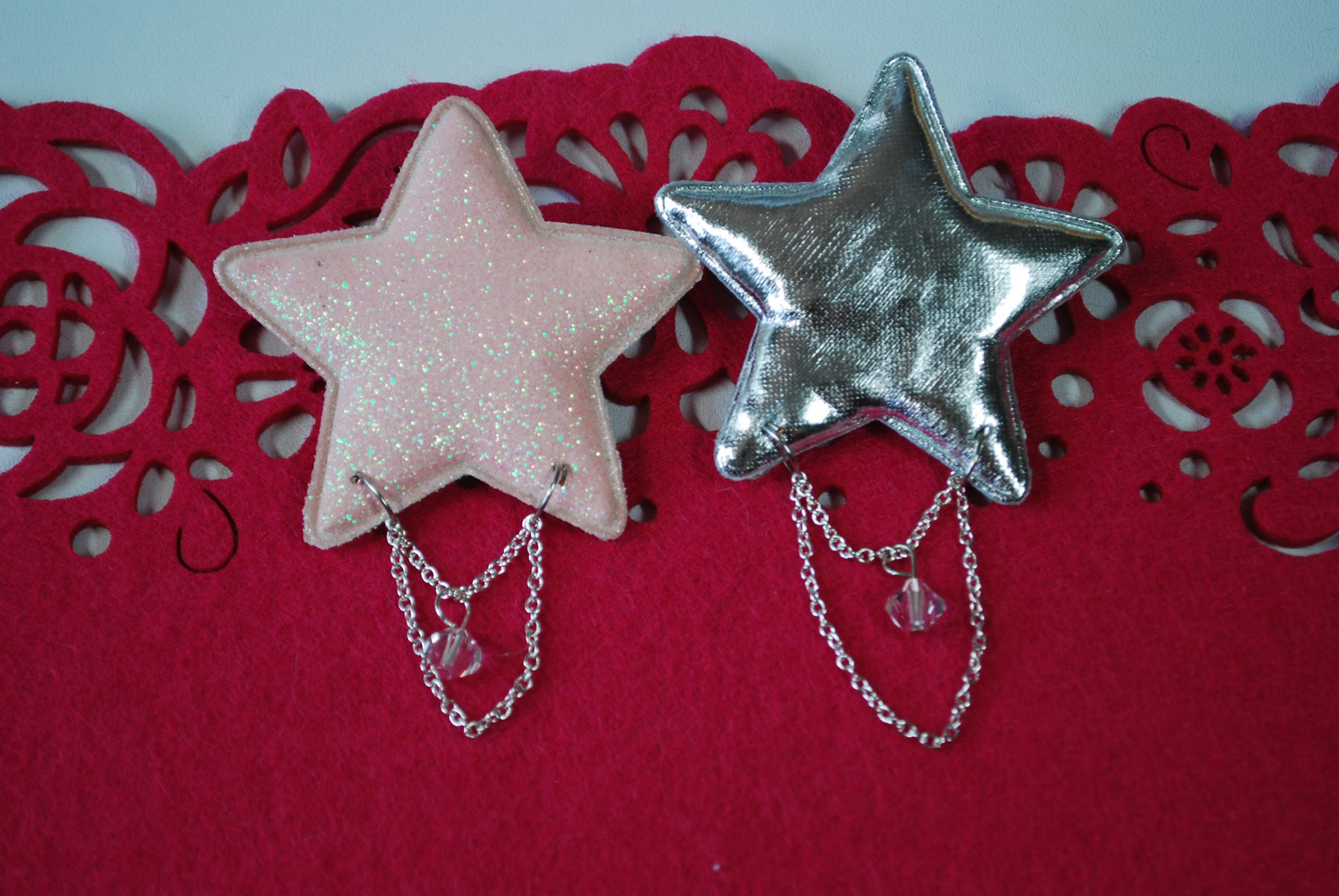 2-way Puff Crystal Stars